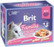 Brit Premium Cat D Fillets in Jelly Family Plate 1020 g (12x85g)