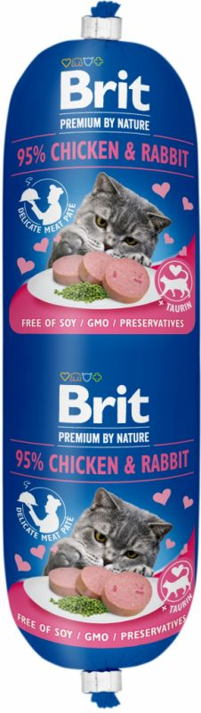 Brit Premium Cat by Nature Sausage Chicken&Rabbit 180g