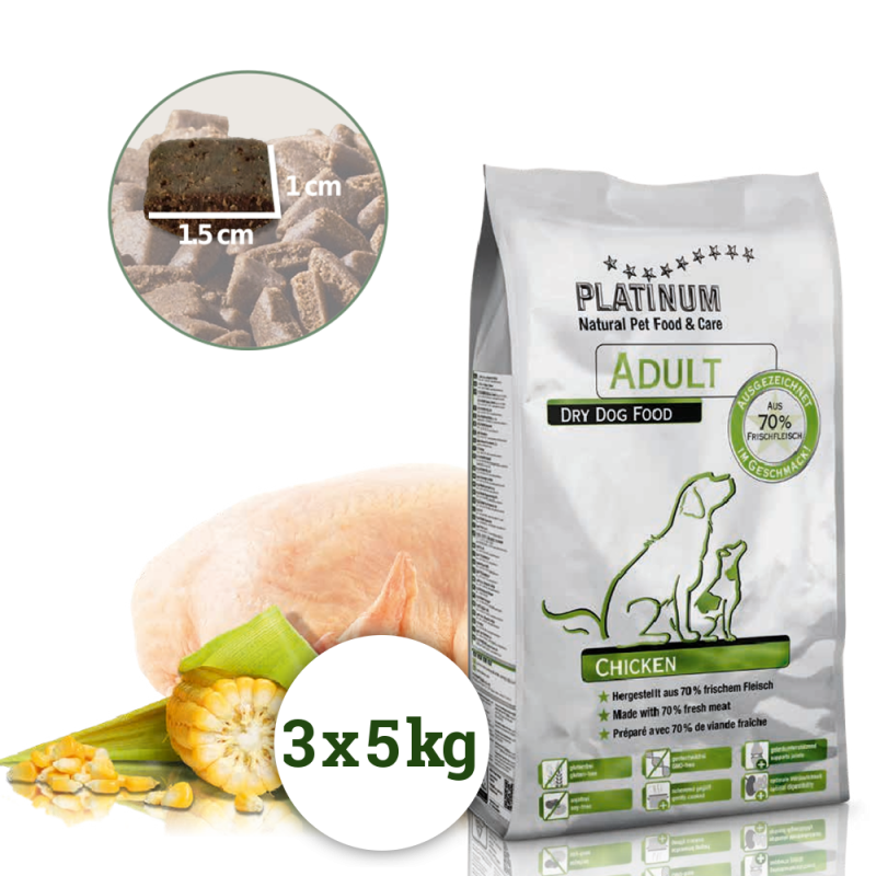 Platinum Adult Chickem 15kg (3x5kg)