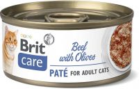 Brit Care Cat BEEF PATÉ WITH OLIVES 70g