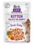 Brit Care Cat Pouch KITTEN- Tender Turkey in Gravy 85g