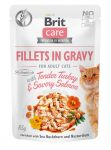 Brit Care Cat Pouch SAVORY SALMON in Gravy 85g
