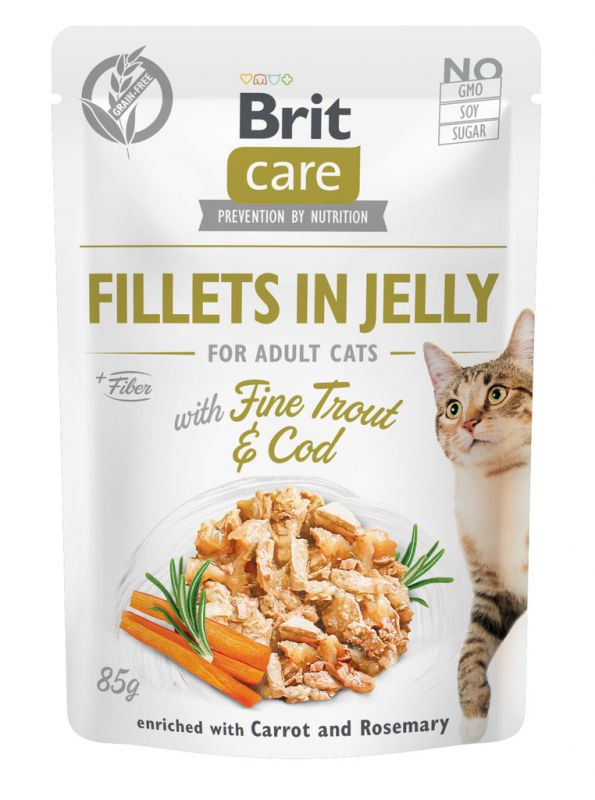 Brit Care Cat Pouch Trout & Cod in Jelly 85g