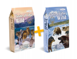 Taste of the Wild Pacific Stream 12,2kg + Wetland Canine Formula 12,2kg