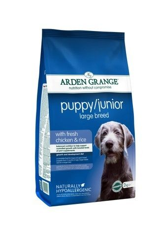 Arden Grange - Puppy/Junior Large Breed: with fresh chicken and rice 2x12 kg