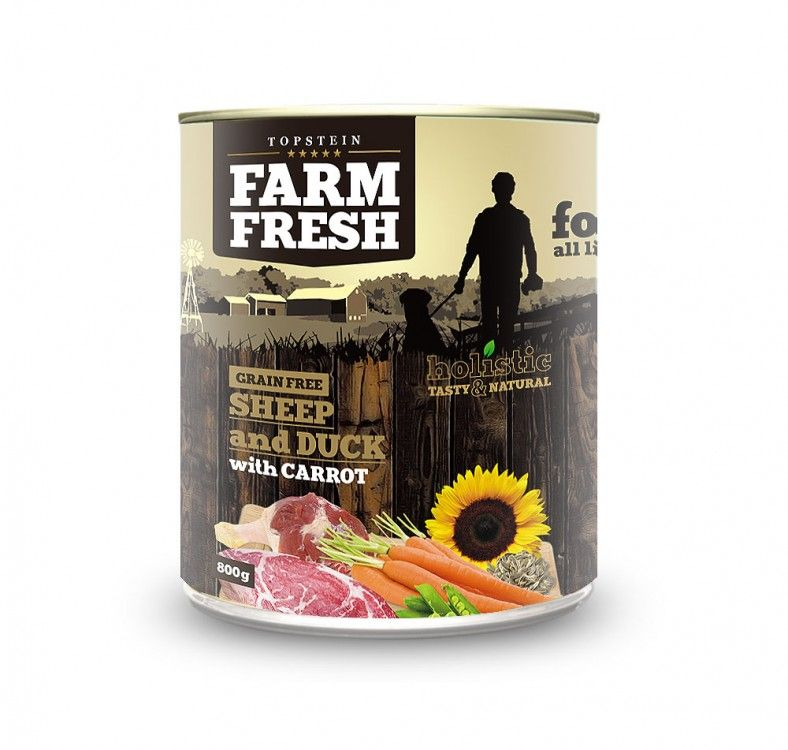FARM FRESH Sheep and duck with carrot 800 g