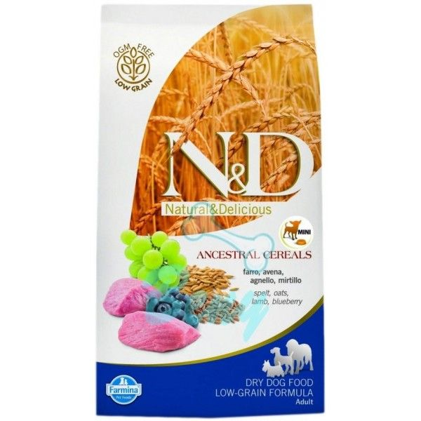 N&D Low Grain Adult Mini Lamb & Blueberry