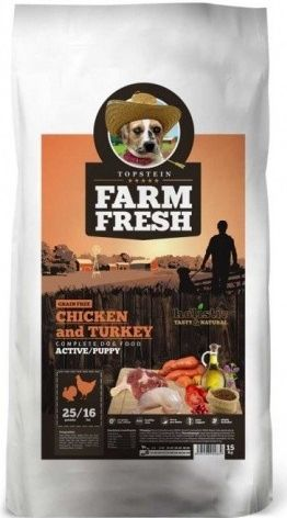 Farm fresh poultry active/puppy