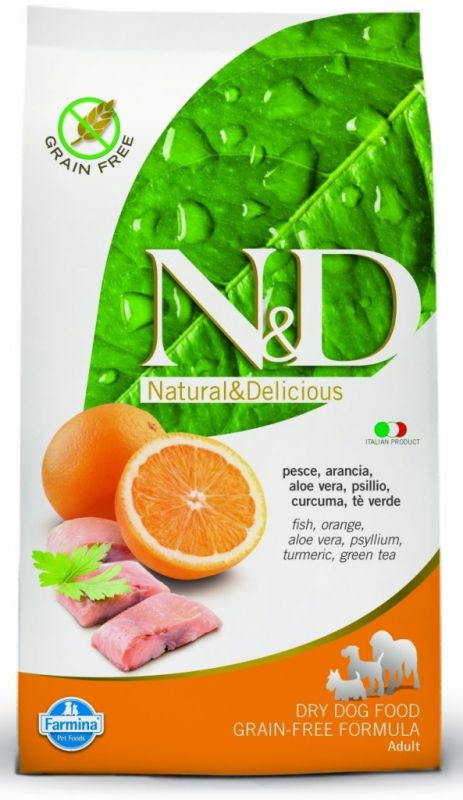 N & D Grain Free Dog Adult Mini Fish & Orange