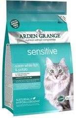 Arden Grange - Sensitive CAT: Ocean White Fish and Potato - grain free 8kg